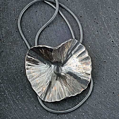 Samantha Maund oxidised silver necklace