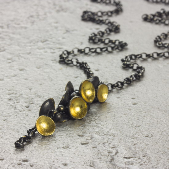 Cluster Drop Necklace by Jenifer Wall at Brass Monkeys