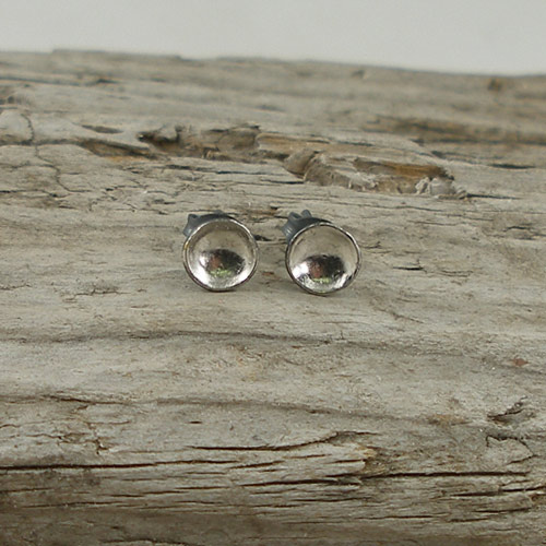Tiny cup studs by Jenifer Wall