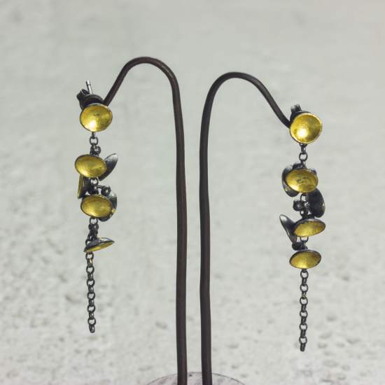 Cluster Drop Earrings by Jenifer Wall