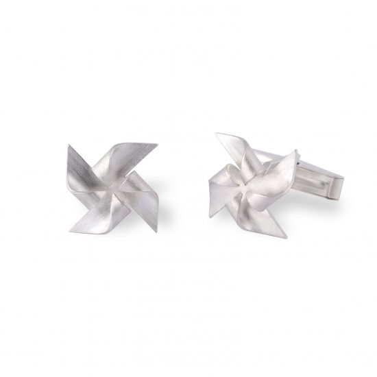 Windmill Cufflinks by Alice Barnes