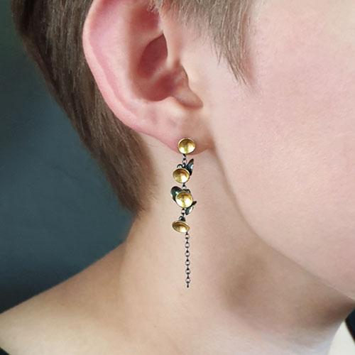 Cluster Drop Earrings by Jenifer Wall