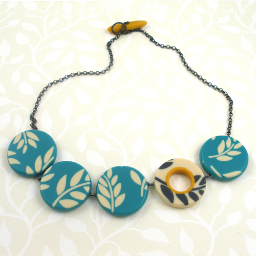 Karen McMillan Fern Cirles Necklace