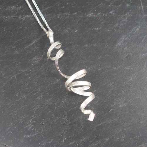 Frances Stunt Drop Spin Silver Necklace