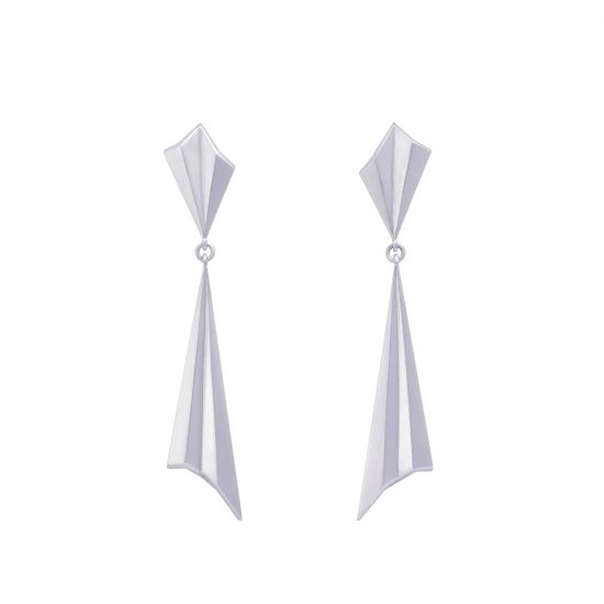 Pleated Drop Earrings by Alice Barnes