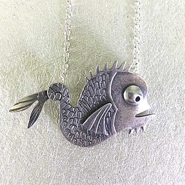 Becky Crow Sea monster pendant