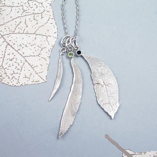 FIona Hutchinson Green and Black Tea Leaf Pendant