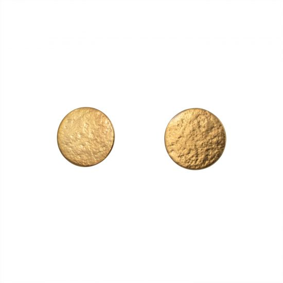 Paillette Large Stud earrings in gold vermeil