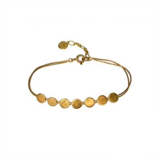 Paillette skinny bracelet in gold vermeil