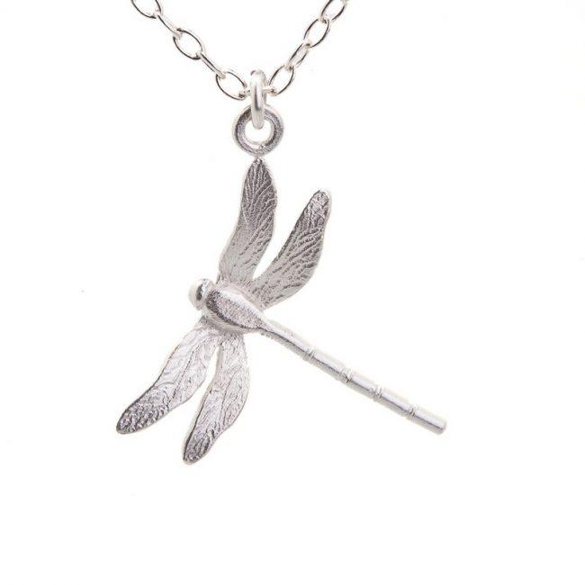 Enchanted Garden Silver Dragonfly Pendant