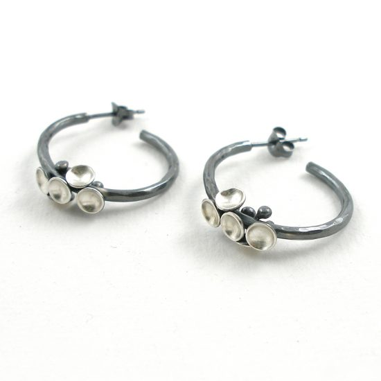 Jenifer Wall Cluster Hoop Earrings with 5 mini pods