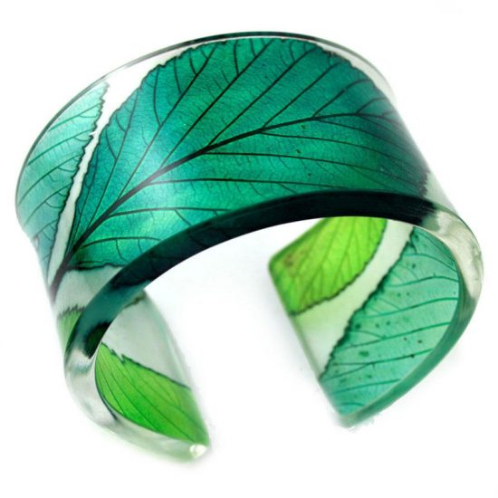 Sue Gregor Fresh Greens Whitebeam Wide Cuff