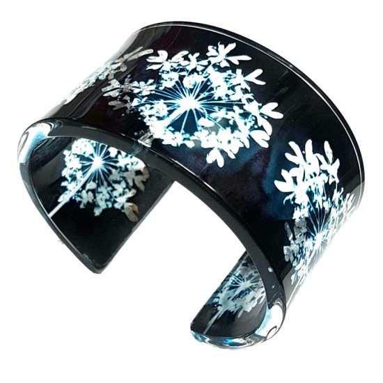 Sue Gregor Black Cow Parsley Wide Cuff