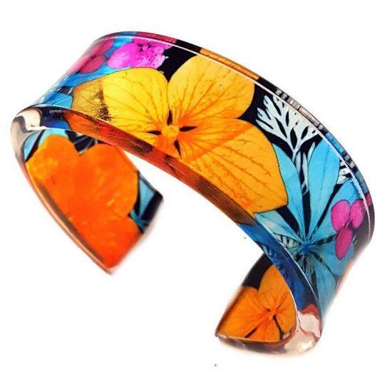 1970s Design Narrow Acrylic Cuff by Sue Gregor