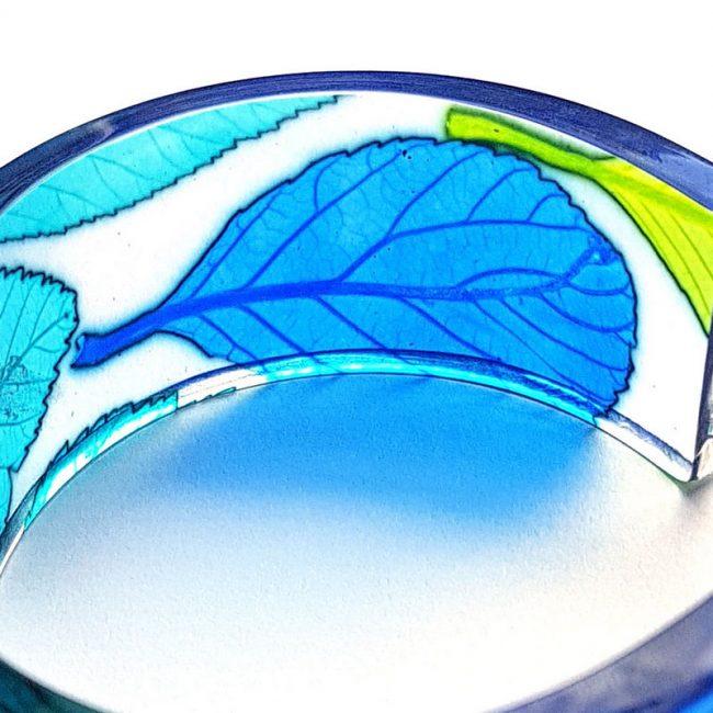 Detail of Turquoise Whitebeam Narrow Cuff