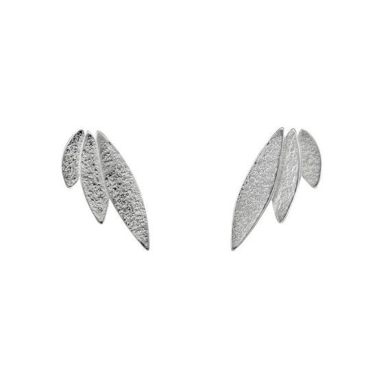 Icarus Stud Earrings in silver