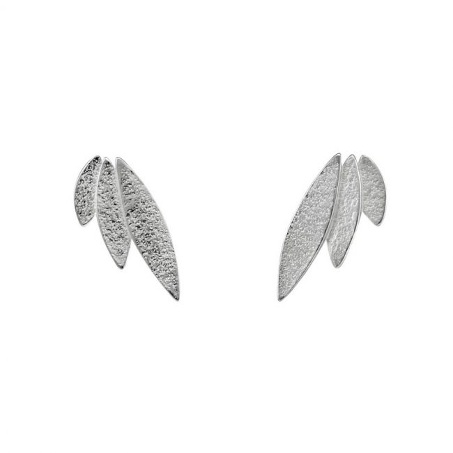 Icarus Stud Earrings in silver