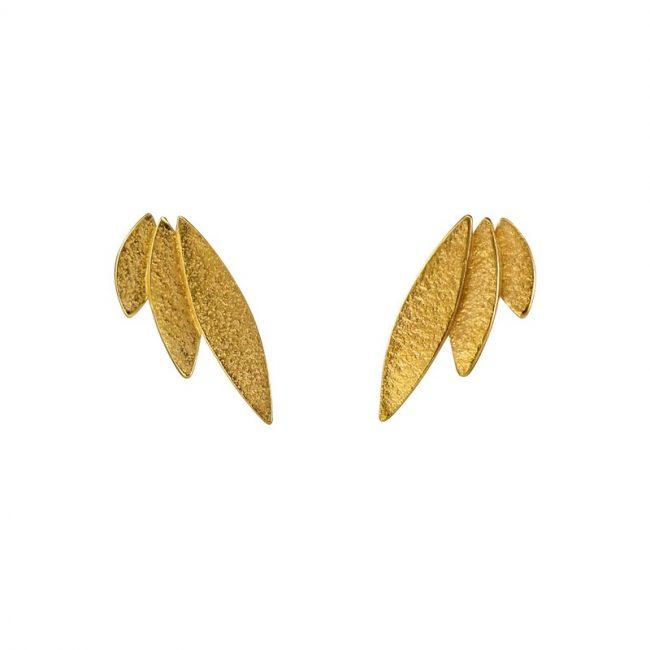 Icarus Stud Earrings in gold vermeil