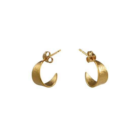 Icarus Small Hoop Earrings in gold vermeil