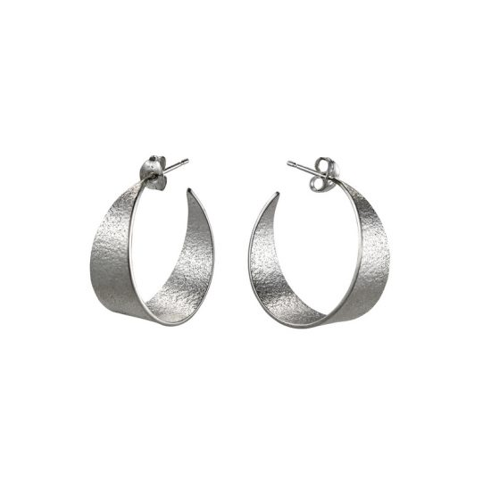 Icarus Medium Hoop Earrings in silver