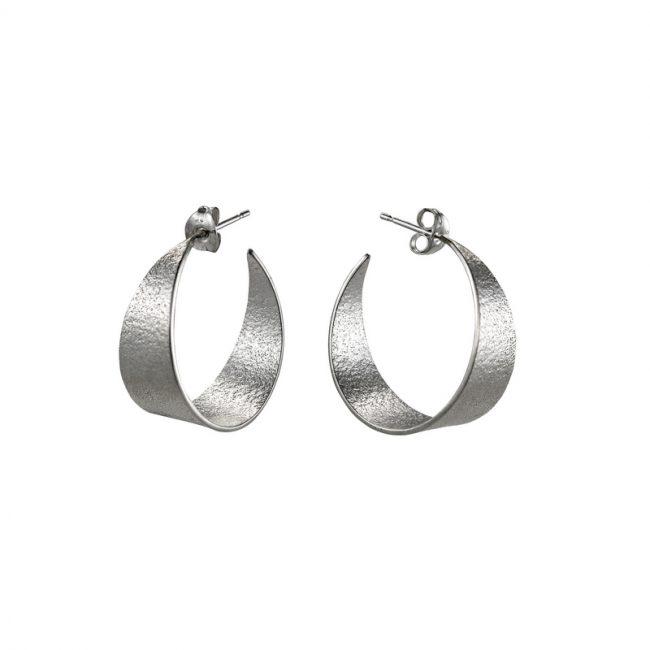 Icarus Medium Hoop Earrings in silver