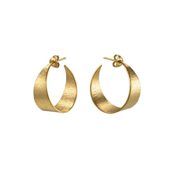 Icarus Medium Hoop Earrings in gold vermeil