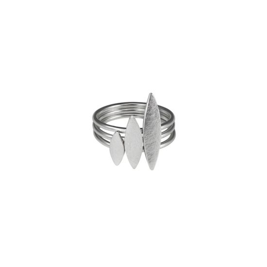 Icarus Stacking Rings in silver