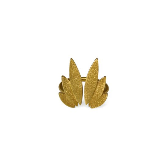 Icarus Fanned Ring in gold vermeil