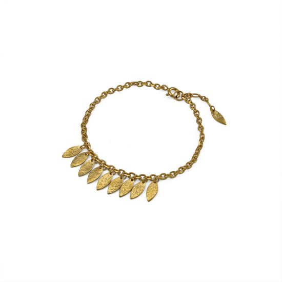 Icarus Dainty Drops Bracelet in gold vermeil