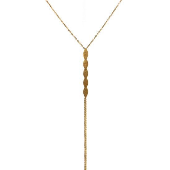 Icarus Lariat in gold vermeil