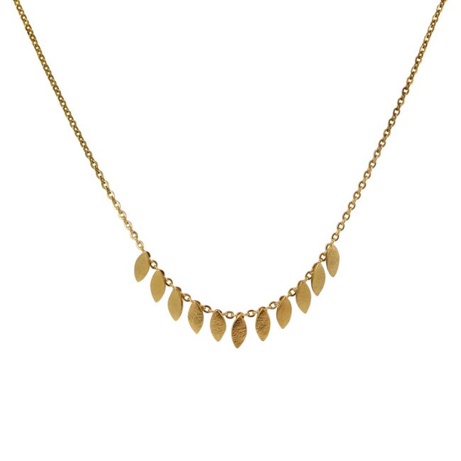 Icarus Short Necklace in gold vermeil