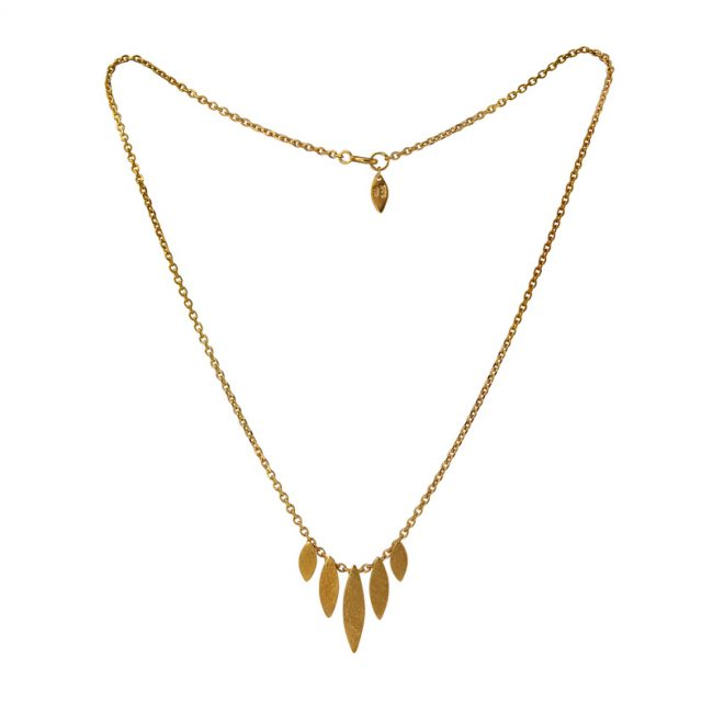 Icarus Graduated Necklace in gold vermeil