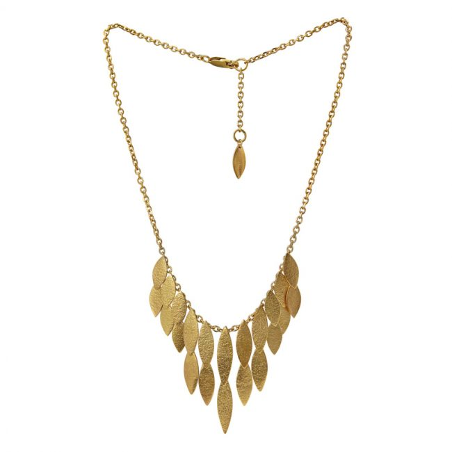 Icarus Large Waterfall Necklace in gold vermeil