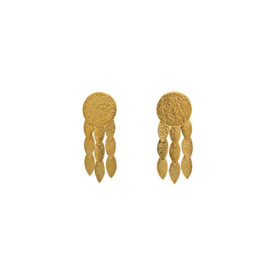 Icarus Sun Drops Earrings in gold vermeil