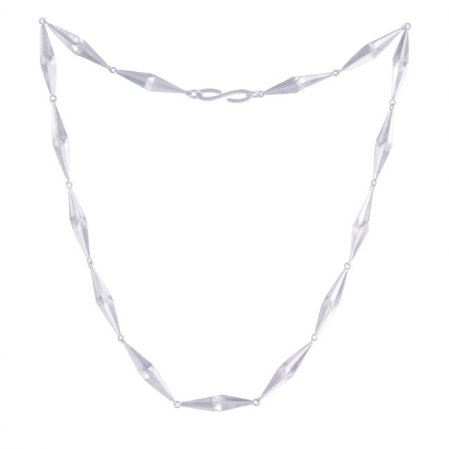 Full Shard silver necklace by alice Barnes
