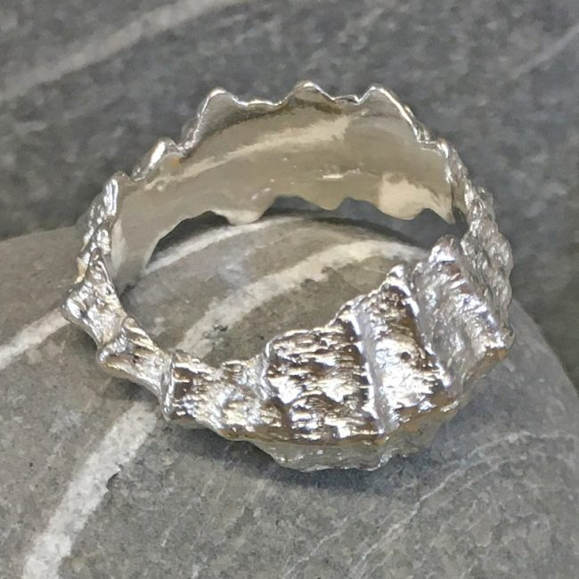 Silver Beachcomber ring by Milly Munday