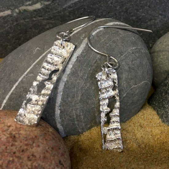 Silver Tidal Drop earrings by Milly Munday