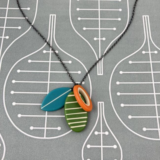 Striped Cluster necklace by Karen McMillan