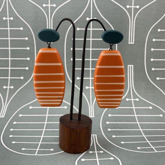 Drop lined earrings by Karen McMillan