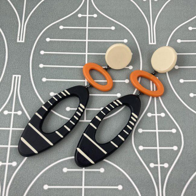Long maxi elipse earrings by Karen McMillan