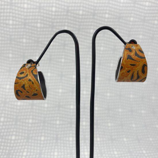 Alyssa hoop earrings in orange by Penny Warren