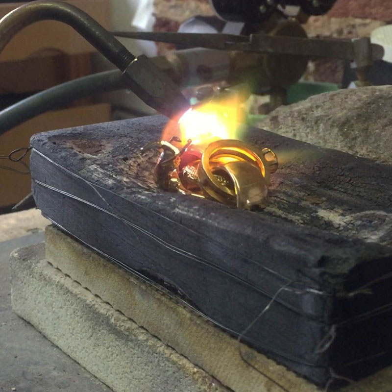 Melting unwanted gold rings
