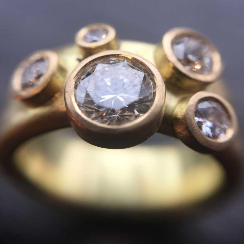 Recycling Old Jewellery - Recycled 18ct Gold Diamond Ring