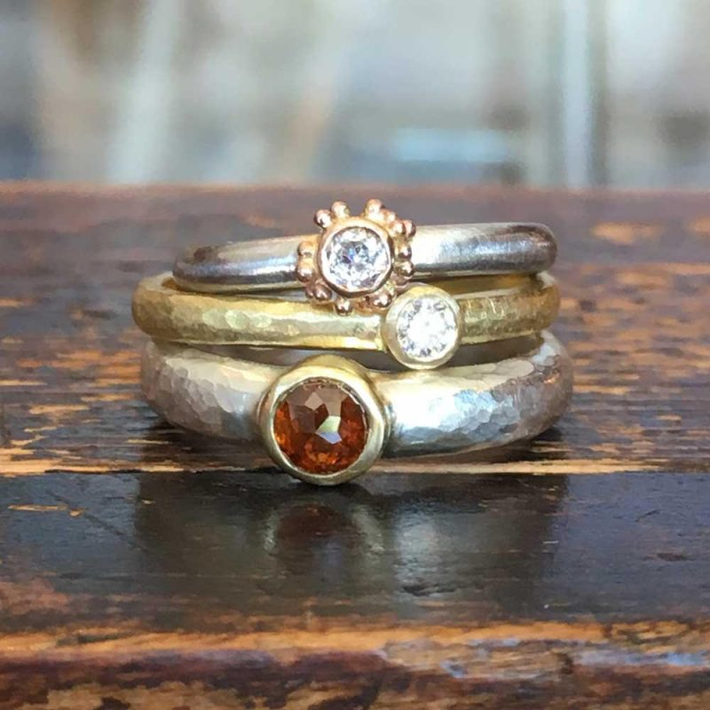 The Commission Process Natural-Red-and-White-Diamond-Rings-by-Jenifer-Wall