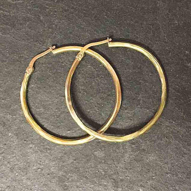recycled 9ct gold hoop earrings